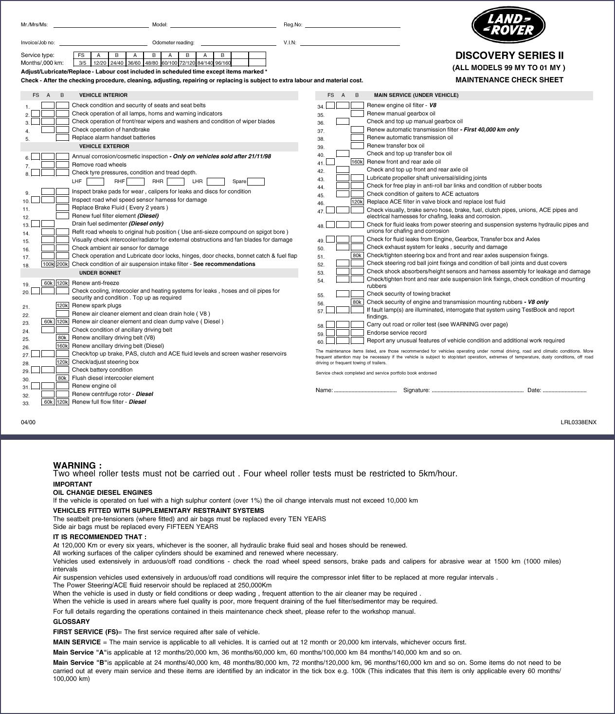freelander 2 service schedule pdf